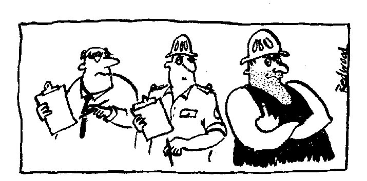 Cartoon - Auditors. The Forest Audit program is a full-blown farce.