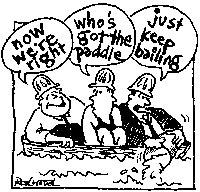 cartoon - just keep bailing!